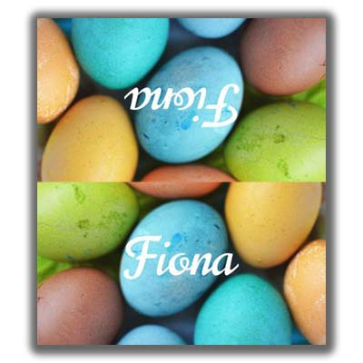Easter Place Card 2 - Printed 2 Sides