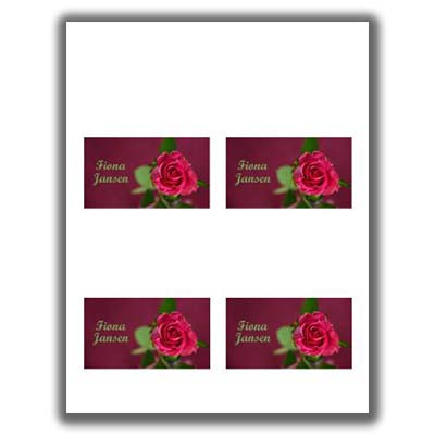 Valentines Day Place Card 2 - Printed 4 Up